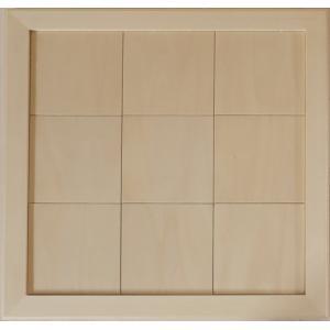 無塗装白木素材 cw-1312 タイル風額14角×9枚 fine-home