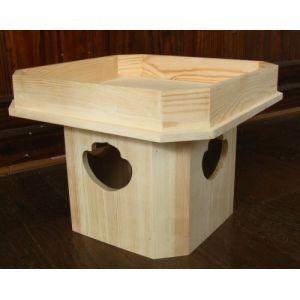 トールペイント用無塗装白木素材 三方(小)cw-745|fine-home