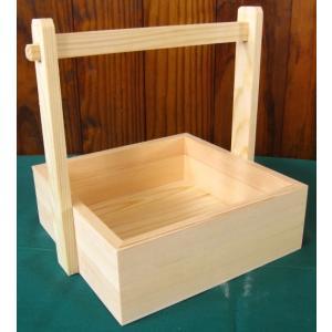 トールペイント用無塗装白木素材 手付き角箱正方形 cw-794|fine-home