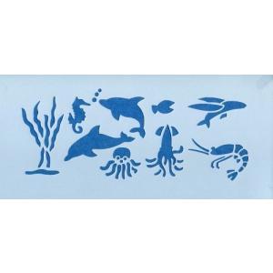 ファインホームのステンシルシート 海の生き物Sサイズ fh-079s|fine-home
