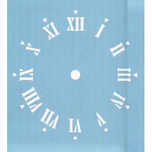 ファインホームのステンシルシート 時計文字(ローマ数字) fh-826|fine-home