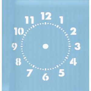 ファインホームのステンシルシート 時計文字(数字) fh-827|fine-home