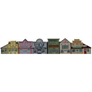 トールペイント図案付白木素材  カントリータウンのドアクラウン