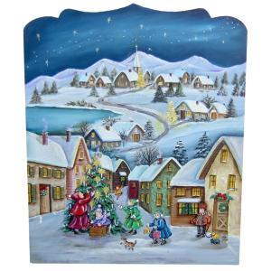 トールペイント ご自分で描く 図案付白木素材 mh-557 クリスマスプラーク