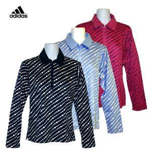 ゴルフウェア レディース / adidas club ハーフジップ 長袖ゴルフシャツ 全3色 (Sサイズ)|fine23