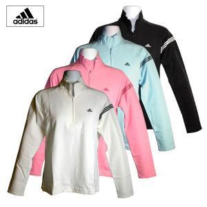 ゴルフウェア レディース / adidas JP レディース長袖ボーダーモックシャツ BAHANA (Mサイズ) 現品限り|fine23