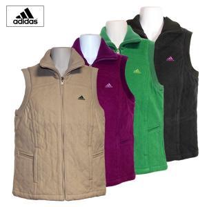 ゴルフウェア レディース / adidas JP フルジップ レディースベスト レベル3 PURPLE (Sサイズ) 現品限り|fine23