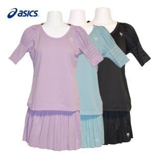 ランニングウェア レディース / asics ランニング プリーツシャツ スカート 上下セット 全3色 (M〜Lサイズ) fine23