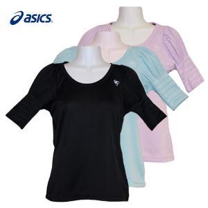 ランニングウェア レディース / asics ランニング プリーツシャツ 全3色 (M〜Lサイズ) fine23