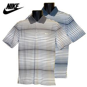 ゴルフウェア メンズ / NIKE キーボールドヘザーストライプ半袖ポロシャツ 587249 全2色 (Lサイズ)|fine23