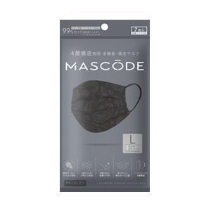 「サンスマイル」 マスコード L ペイズリーブラック 7枚入 「衛生用品」の商品画像 ナビ