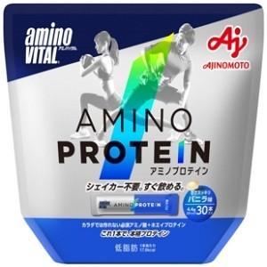「味の素」 アミノバイタル アミノプロテイン パウチ バニラ味 4.4g×30本入 「健康食品」