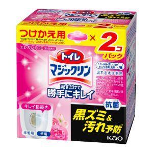 「花王」 トイレマジックリン 流すだけで勝手にキレイ エレガントローズの香り つけかえ用2コパック ...