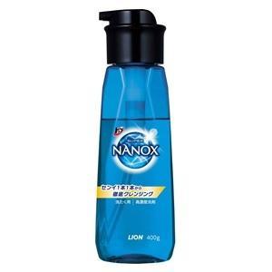 「ライオン」 トップ スーパーNANOX(ナノックス) 洗濯洗剤 本体 プッシュボトル 400g 「日用品」 薬のファインズファルマ