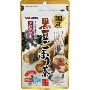 「あじかん」 国産黒豆ごぼう茶 1.5g×18包入 「健康食品」