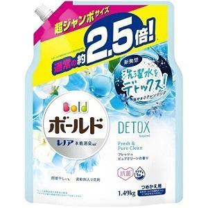 「P&G」 ボールドジェル フレッシュピュアクリーンの香り つめかえ用 超ジャンボサイズ 1.49kg 「日用品」|薬のファインズファルマ