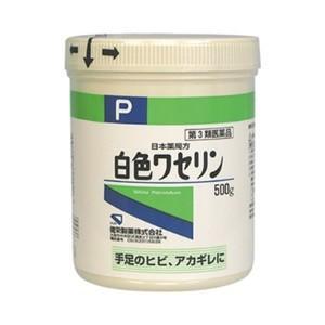 「健栄製薬」 日本薬局方 白色ワセリン 500g 「第3類医薬品」