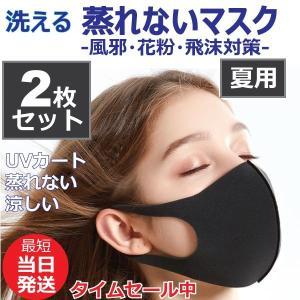 マスク 入荷 2枚セット 洗える 蒸れない 夏用 涼しい ウレタンマスク ウィルス飛沫 男女兼用 在...