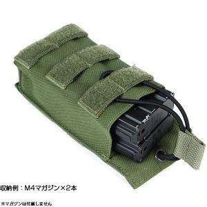 ライラクス Laylax ビッグサイズマガジンポーチ オープントップ AA-12 90連対応 BK/TAN/MC/RG ゴーストギア 装備品 ポーチ|first-jp