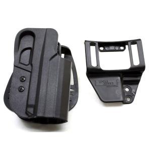 54301 オープントップ カイデックスホルスター HK45/USPフルサイズ 右 BK アンクルマイク first-jp