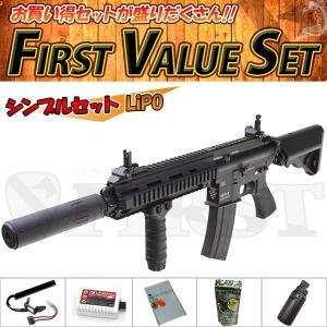 (7点セット品)東京マルイ 次世代電動ガン DEVGRUカスタム HK416D シンプルセット(リポ)バイオ LiPo 4952839176202 fvs-b-li フルセット|first-jp