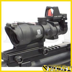 ACOGタイプ TA31 4X32 スコープ レッド集光ファイバー W/RM ドットサイト付き サバゲ 電動ガン ライフルに|first-jp