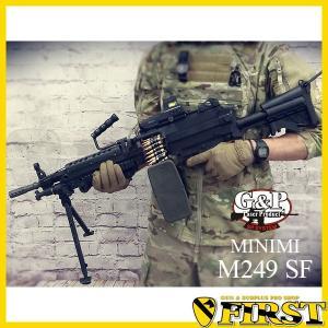 GP740 ミニミ M249 SFストック 電動ガン G&P 電動ガン 18才以上用 FN 5.56 SAW MINIMI NATO パラ ブラックホークダウン アフガン first-jp