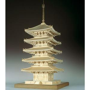 【17日最大29.5%還元】 (取寄品) ウッディジョー 木製模型 1/75 興福寺 五重塔 精密 ...