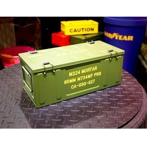 ミリタリーコンテナBOX スチール オリーブ「ARMY」 CD/DVDケース  アンドグラッド ガレージ ミリタリー 男前インテリア 4571277077959