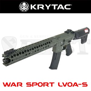 KRYTAC クライタック WAR SPORT LVOA-S FG 完成品電動ガン フォレッジグリーン LayLax 4571443141644 エアガン uss (18erm)|first-jp