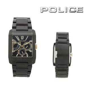 ポリス  KING's AVENUE/キングスアベニュー (ブラック/ゴールド&ホワイト) マルチファンクション ブラックウォッチ/メンズ/腕時計/時計  13789MSB-02MA|first-store