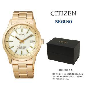 CITIZEN 腕時計 シチズン REGUNO レグノ メンズ ソーラーテック オフホワイト×ゴールド KH2-227-11 ★★★|first-store