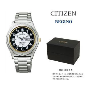 CITIZEN 腕時計 シチズン 腕時計 REGUNO(レグノ) ソーラーテック スタンダード UDフォント ブラック/ホワイト KH5-099-11 メンズ 腕時計 ★★★|first-store