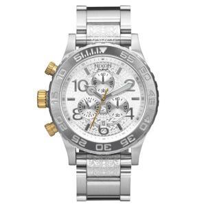 ニクソン NIXON 42-20クロノ 42-20 CHRONO 腕時計 レディース/メンズ クロノグラフ オールシルバー/スタンプド NA0372129-00|first-store