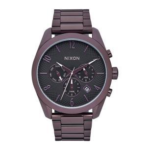 ニクソン NIXON ブレットクロノ BULLET CHRONO 腕時計 レディース クロノグラフ オールプラム/ブラック NA3662172-00|first-store
