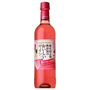 サントリー 酸化防止剤無添加のおいしいワイン。 ロゼ やや甘口 720ml(3)|first19782012