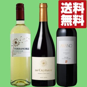 【送料無料・ワイン セット】 赤&白ワイン代表ぶどう3品種! 赤2本・白1本 3本飲み比べセット|first19782012
