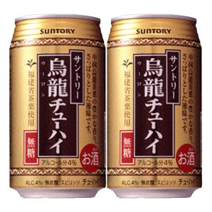 サントリーチューハイ 烏龍チューハイ 4% 335ml(1ケース/24本入り)(3)○|first19782012