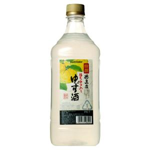 サントリー 特撰果実酒房 徳島産 ゆず酒 コンクタイプ 1800mlペット(3)|first19782012