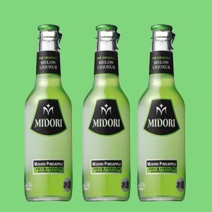 サントリー ミドリ メロン&パイナップル 4% 275ml瓶(1ケース/24本入り)(3)|first19782012