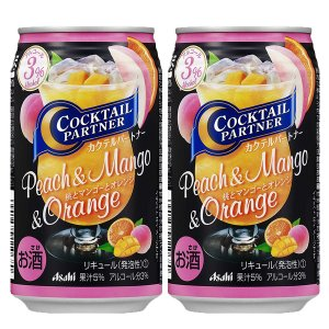 アサヒ カクテルパートナー 桃とマンゴーとオレンジ 350ml(1ケース/24本入り)(1)○|first19782012