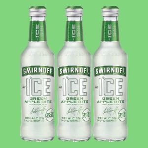 スミノフ アイス グリーンアップルバイト 275ml瓶(1ケース/24本入り)(1)○|first19782012
