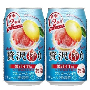 アサヒ 贅沢搾り グレープフルーツ 4% 350ml(1ケース/24本入り)(1)○ first19782012