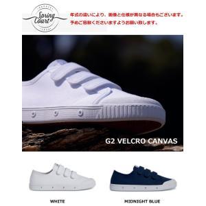 スプリングコート G2 ベルクロ キャンバス スニーカー 2...
