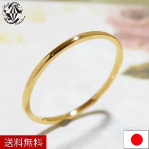 K18 18金 リング レディース 極細 華奢 18K 指輪 シンプル ピンク ゴールド イエロー ホワイト ピンキー ダイヤ|firstcollection