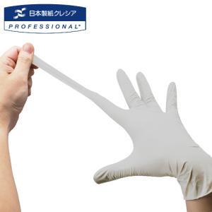 日本製紙クレシア クリーンガード G10 グレー ニトリルグローブ Lサイズ (150枚) 小箱 1...