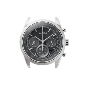 wena wrist Chronograph Solar Silver|firstflight