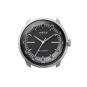 wena wrist Three Hands Mechanical Silver|firstflight