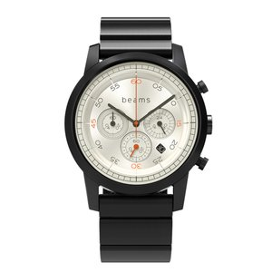 wena wrist Chronograph Premium Black WD -beams edition- + wena wrist Premium Black|firstflight