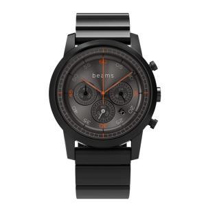 wena wrist Chronograph Premium Black BD -beams edition- + wena wrist Premium Black|firstflight